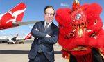 Qantas is averaging 28% passenger share in international markets; steadily losing domestic market share despite growth; next stop Beijing