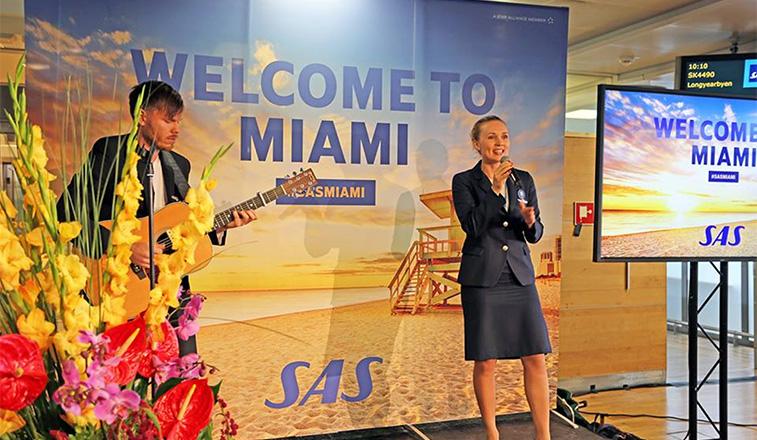 SAS serenades Miami with Scandinavian city duo