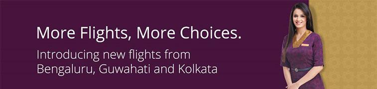 Vistara adds flights from three Indian airports
