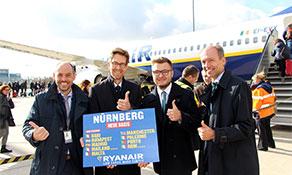anna.aero joins Nuremberg Airport to celebrate Ryanair's base opening