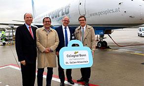 People's Viennaline adds Altenrhein – Friedrichshafen – Cologne Bonn