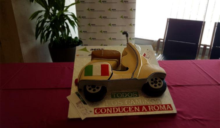 Cake 1 – Alitalia Rome Fiumicino to Tenerife North