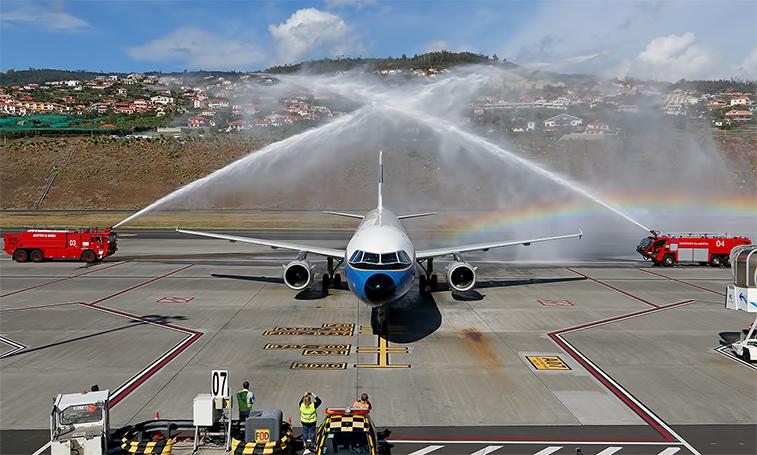 Lufthansa arrival to Madeira.