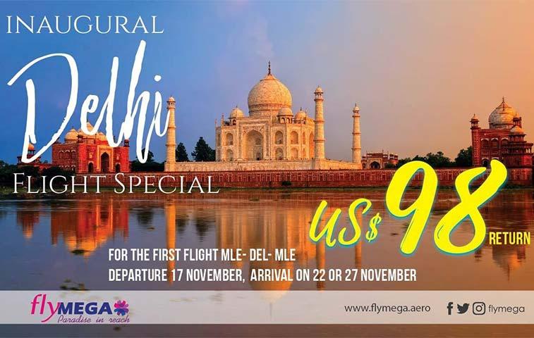 MEGA Maldives Airlines initiates Indian service to Delhi