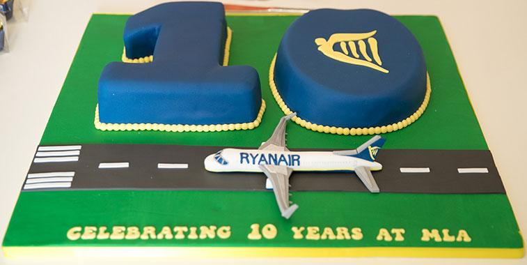 Ryanair 10-year Malta anniversary.