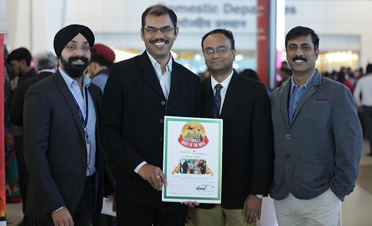 Amandeep Singh, Airline Marketing, Mr. Pradeep Panicker, Chief Commercial Officer of Delhi Airport, Mr. Anindya Acharya and Mr. Abhijnan Sengupta of Airline Marketing and Route Development