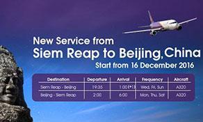 Cambodia Angkor Air makes Beijing its fifth destination in China