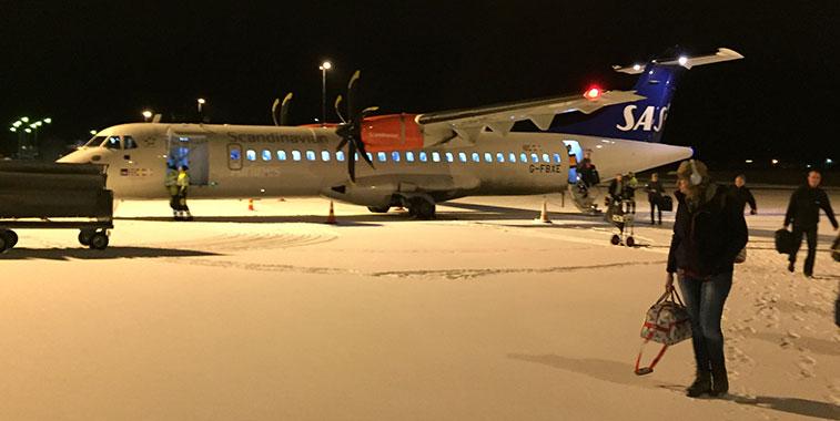 SAS aircraft Tampere