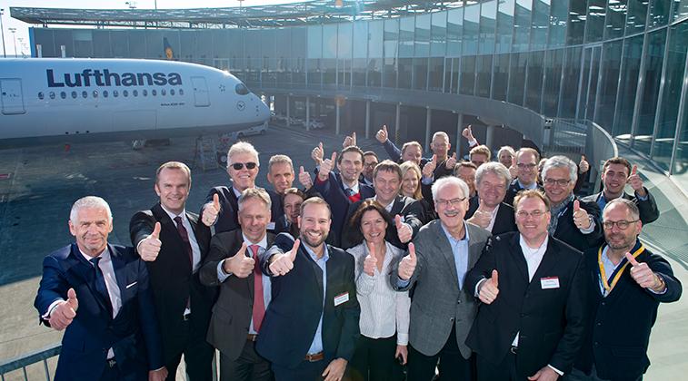 Lufthansa welcomes first A350