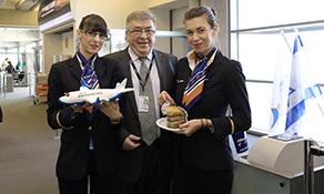 Blue Air takes off for Tel Aviv