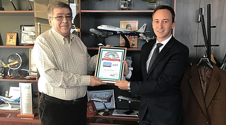 Blue Air BHX FTWA win certificate.