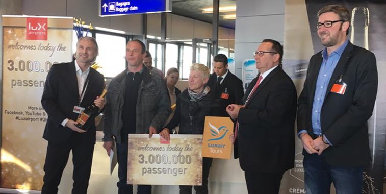 Luxembourg Airport passes three million passengers