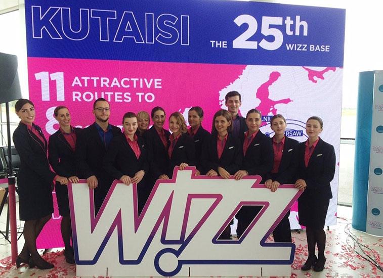 Wizz Air makes Kutaisi in Georgia base 25