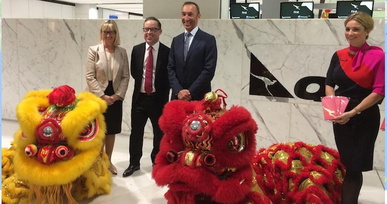 Sydney Beijing Qantas launch.