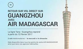Air Madagascar returns to Asia