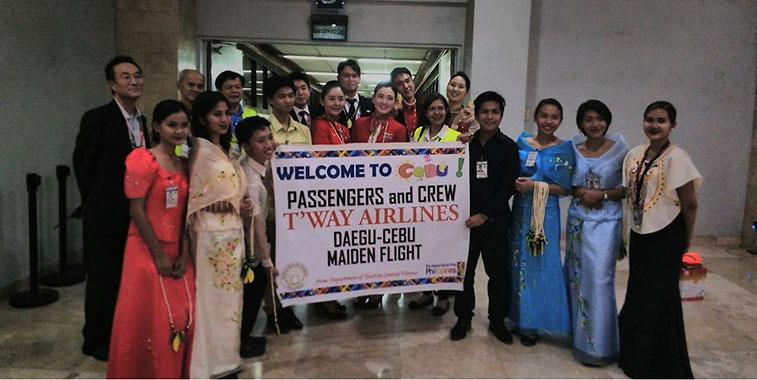 t'way air connects Daegu with Cebu