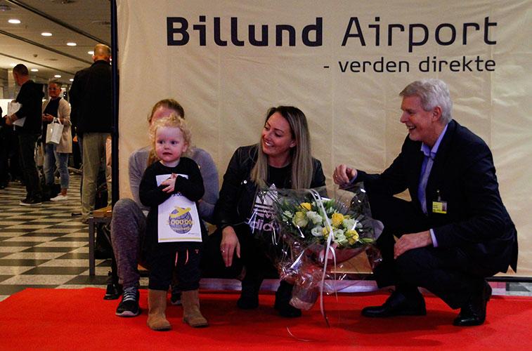 Billund Airport celebrates 3 million passenger