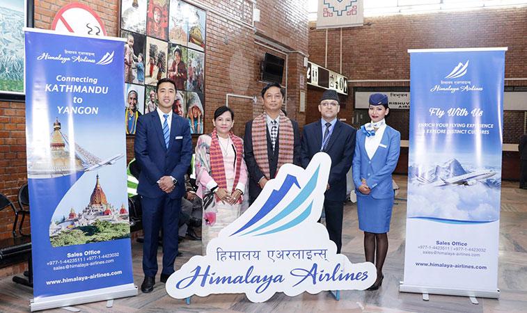 Himalaya Airlines launches Kathmandu to Yangon service