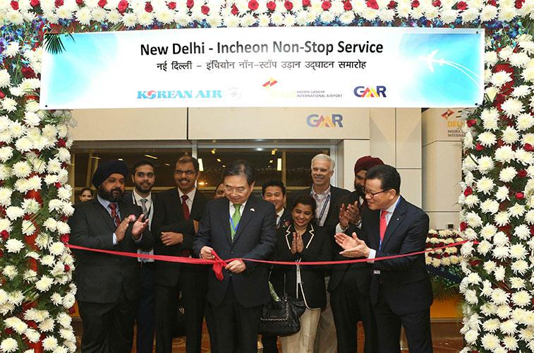 Korean Air links Delhi in India with Seoul Incheon