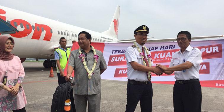 Lion Air launches Surabaya to Kuala Lumpur service