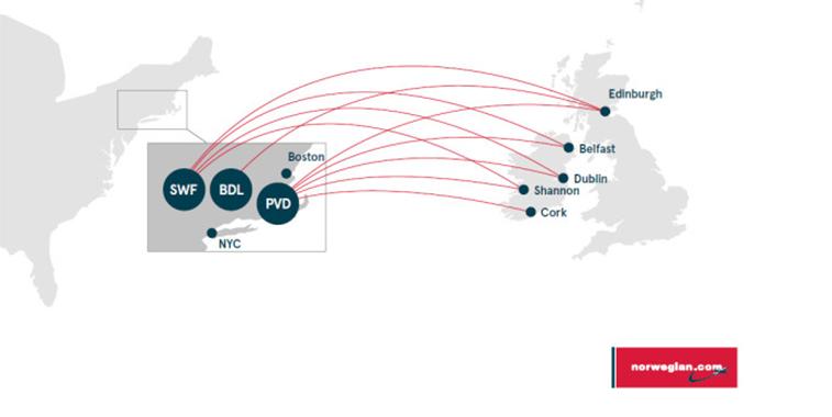 Norwegian launches transatlantic flights from Belfast, Cork, Dublin, Edinburgh and Shannon
