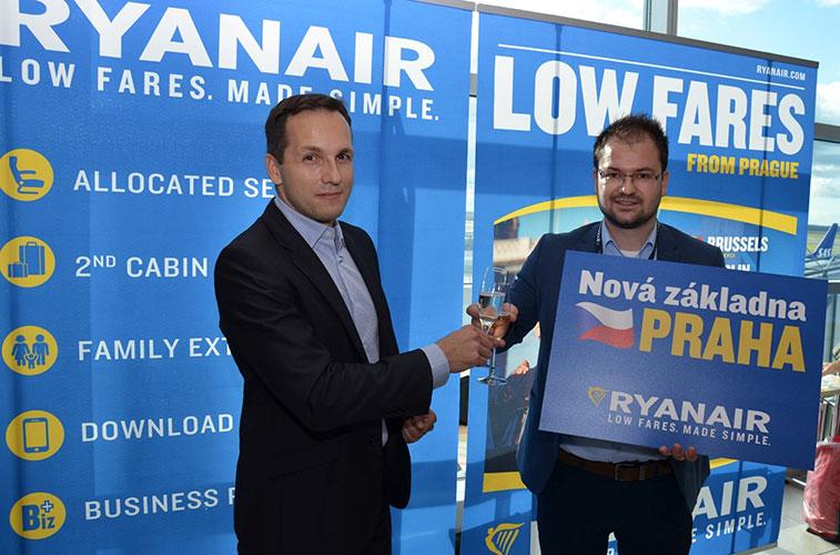 Ryanair launches Prague base in W16