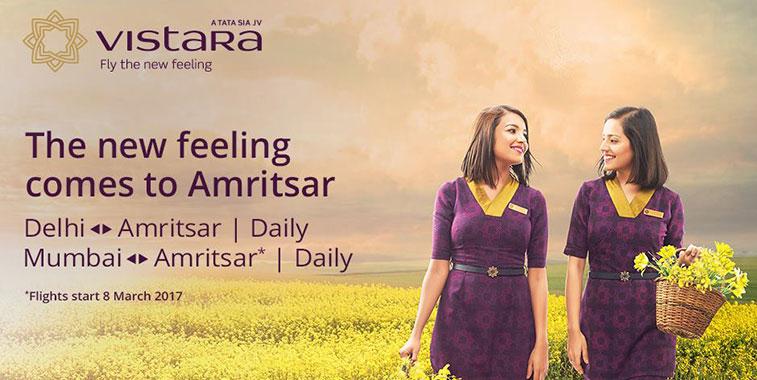 Vistara launches Mumbai to Amritsar service