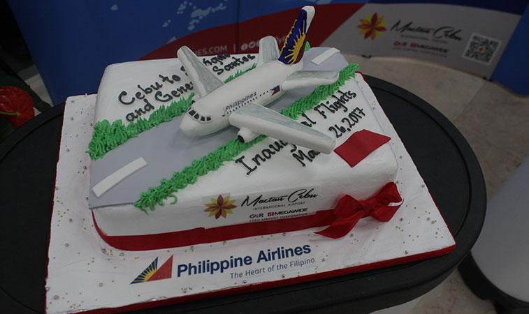 Philippine Airlines Cebu inaugural cake