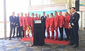 Austrian Airlines arrives in La La Land