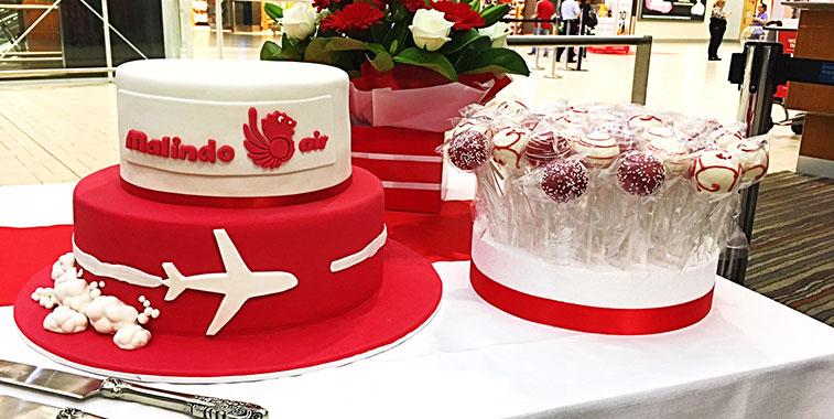 Malindo Air Kuala Lumpur to Brisbane cake