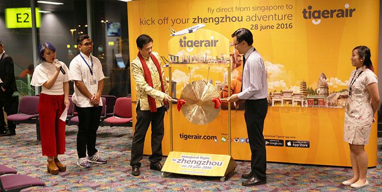 Tigerair Singapore launches service to Zhengzhou in June 2016