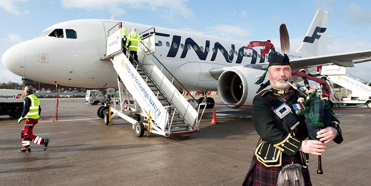 Finnish flag carrier Finnair launches Helsinki to Edinburgh route