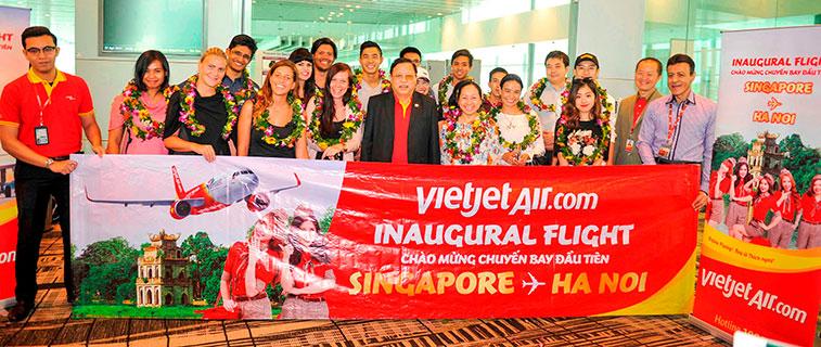 VietJetAir starts Hanoi to Singapore route