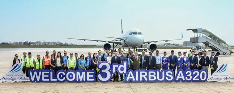 Himalaya Airlines third A320