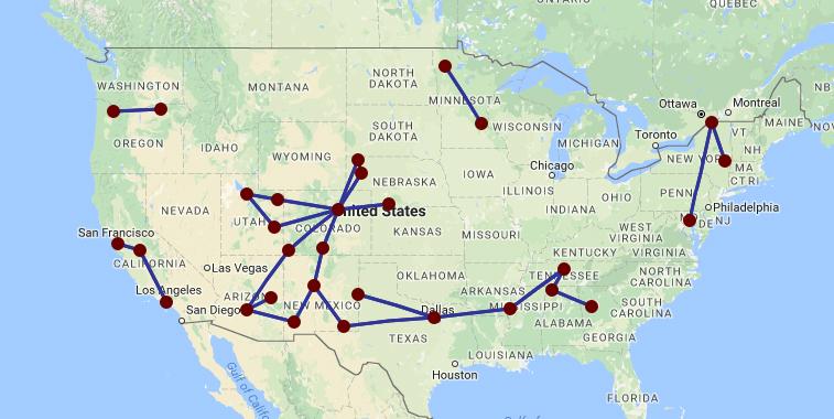 Boutique Air Route Map US ANNIES