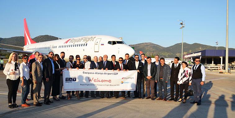 Royal Flight starts Moscow SVO to Alanya Gazipasa charter flights