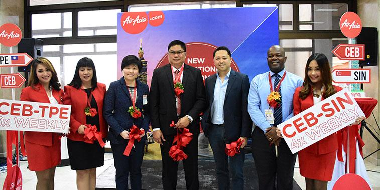 Philippines AirAsia launches Singapore and Taipei from Cebu