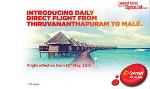 SpiceJet starts second service to Maldives