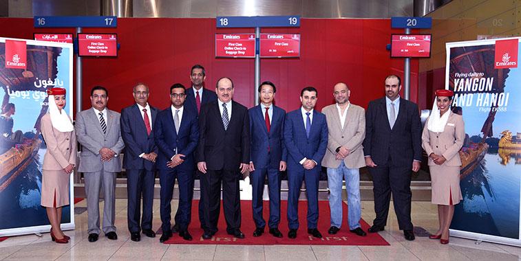 Emirates launches Dubai to Yangon in Myanmar route
