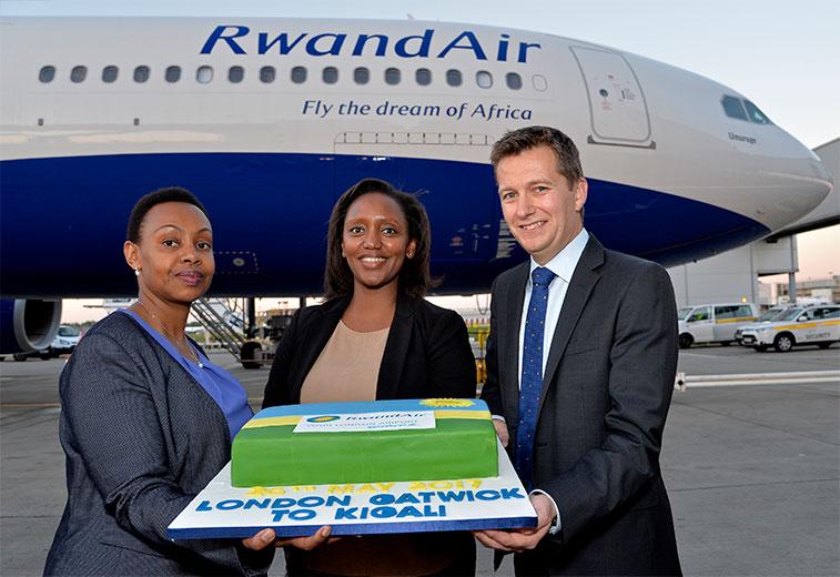 Rwandair launches Kigali to London Gatwick service