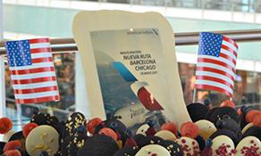 American Airlines begins transatlantic trio