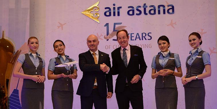 Air Astana launches Astana to Kiev route.