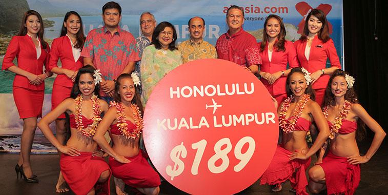 AirAsia X links Kuala Lumpur and Honolulu