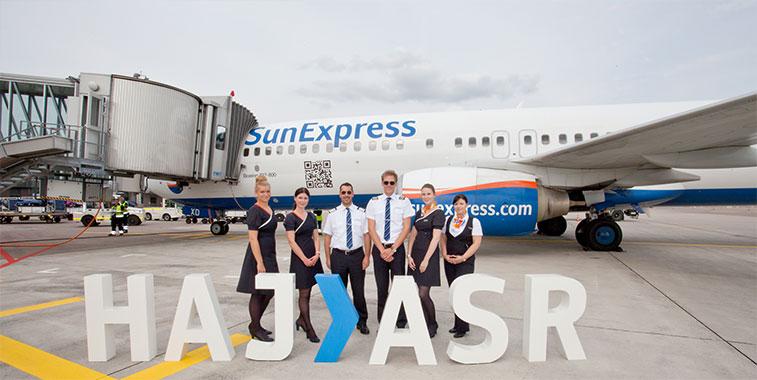 SunExpress starts new route trio