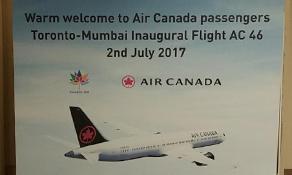 Air Canada makes it to Mumbai