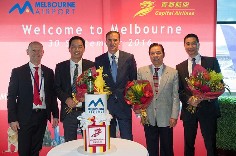 Beijing Capital starts Australia service in September 2016.