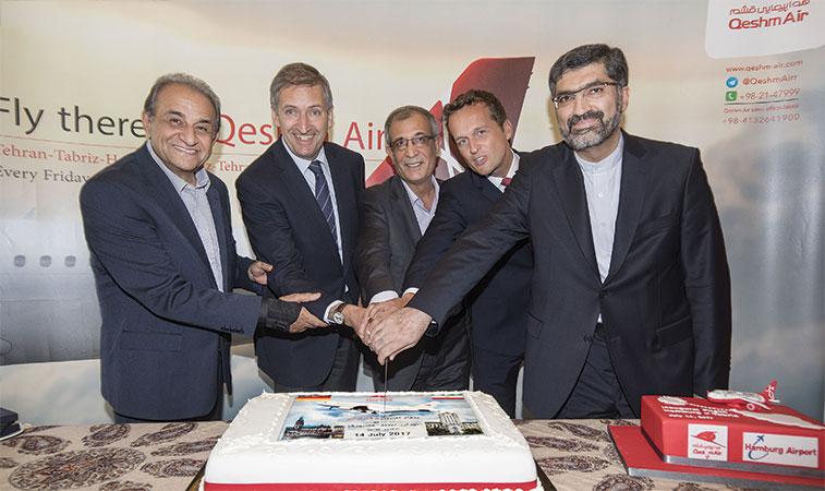 Rolf Hamburg qeshm air celebrates maiden flight on hamburg tabriz route