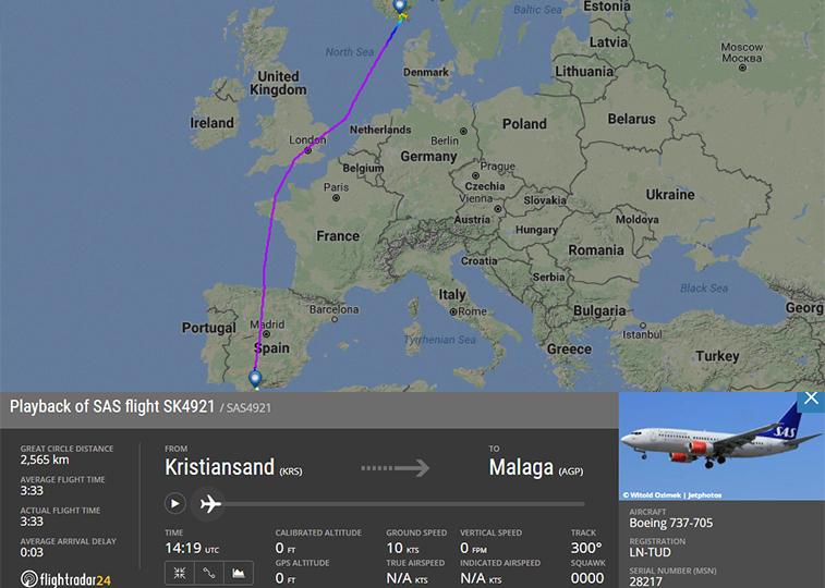SAS Kristiansand Malaga