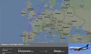 SAS serenades Kristiansand with seasonal Malaga service