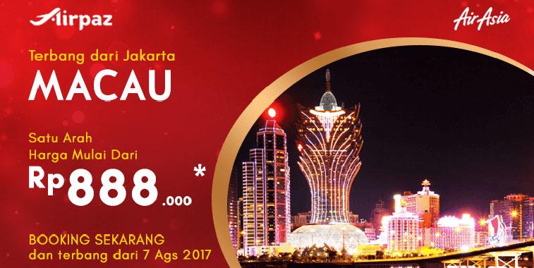 Indonesia AirAsia adds Jakarta to Macau link